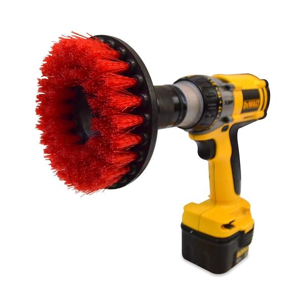 Red 5 Inch Drill Brush - Heavy Duty