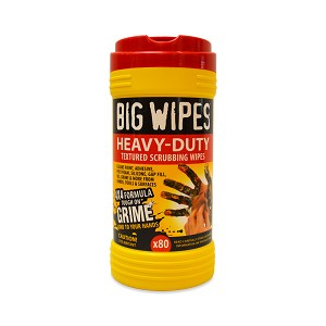 Big Wipes - Heavy Duty Industrial Textured Scrubbing Wipes (80 Count)
