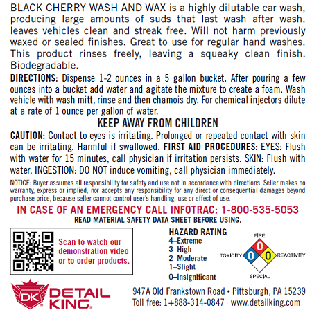 Cherry Car Wash Soap