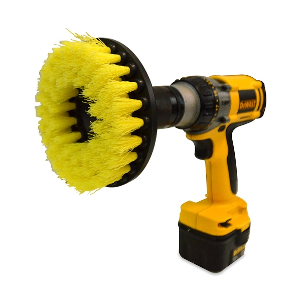 yellow 5 inch drill brush medium duty. Black Bedroom Furniture Sets. Home Design Ideas