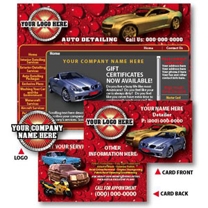 Auto Detailing Flyers Business Cards Logo Development Detail King