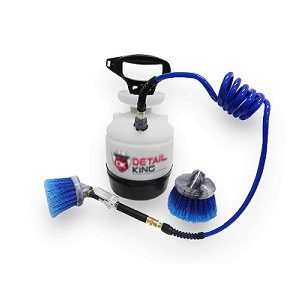 "Plastic 1 Gallon Tire Dressing Application Tank w/ 3"" & 6"" Dressing Brushes ***2-3 Week Lead Time***"