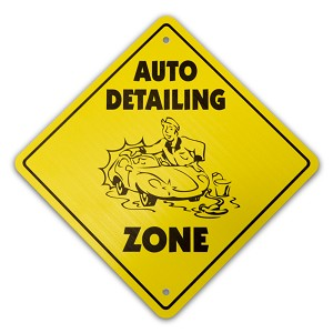 Auto Detailing Crossing Sign Indoor/Outdoor