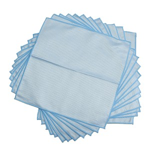 "Ultra Microfiber Blue Diamond Glass Towels 16"" x 16"" - 12pk"