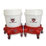 Grit Guard Double Bucket Dolly Car Wash System