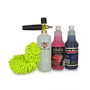 Qnix Foam Cannon Car Wash Soap Kit - Black Cherry & Heads Up Qts
