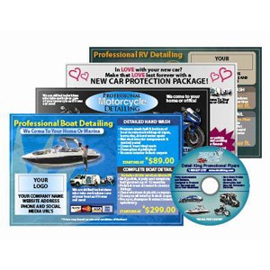 Promotional Detailing Flyers For Boats, Motorcycles, RV's & New Automobiles