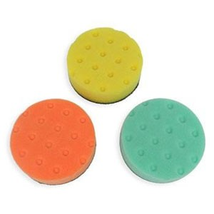Lake Country CCS Buffing/Polishing 4 Inch Spot Buff Foam Pad Set (3 Pads)