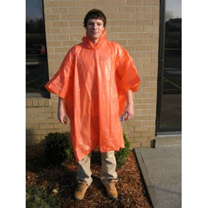 Heavy Weight Poncho - Orange