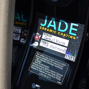 Jade Ceramic Coating Reminder Stickers