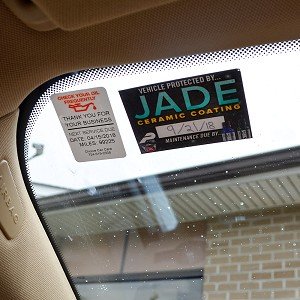 Jade Ceramic Coating Static Cling Stickers