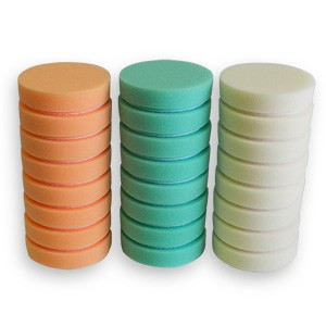 Cyclo 4 Pair Of White, Green & Orange Foam Pads w/ Hook and Loop Backing