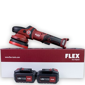 Flex XCE 8-125 18.0 Polisher Kit - Includes 2 Batteries and Charger W/FREE SHIPPING