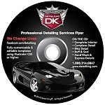 Professional Car Detailing Flyer on CD