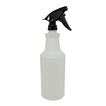 Quart Bottle w/Chemical Resistant Sprayer (Black)