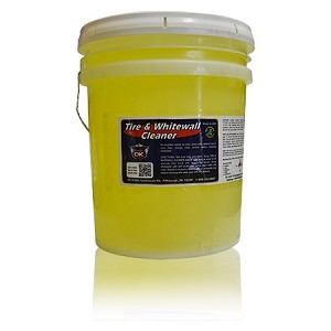 Tire & Whitewall Cleaner w/darkening agent - 5 Gallons